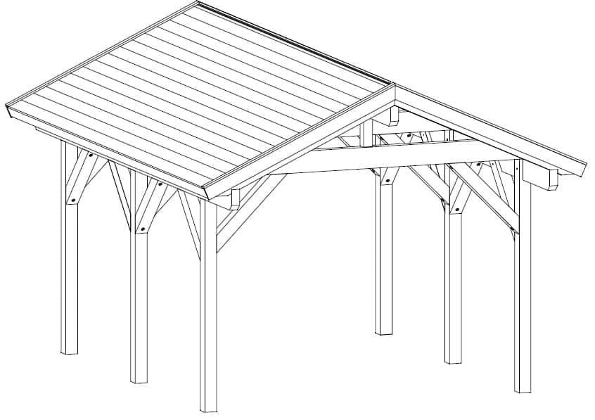 Wooden Carport Henley
