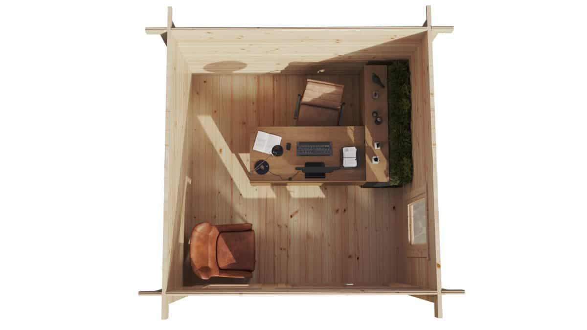 Mini Garden Office-2 9m2 / 44mm / 3 x 3 m