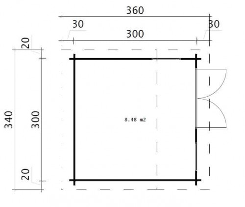 Mini garden office 1 ground plan