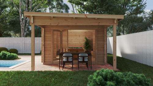 Large Garden Room with Premium Folding Doors David-1 / 4 x 8 m / 19m2 / 70mm