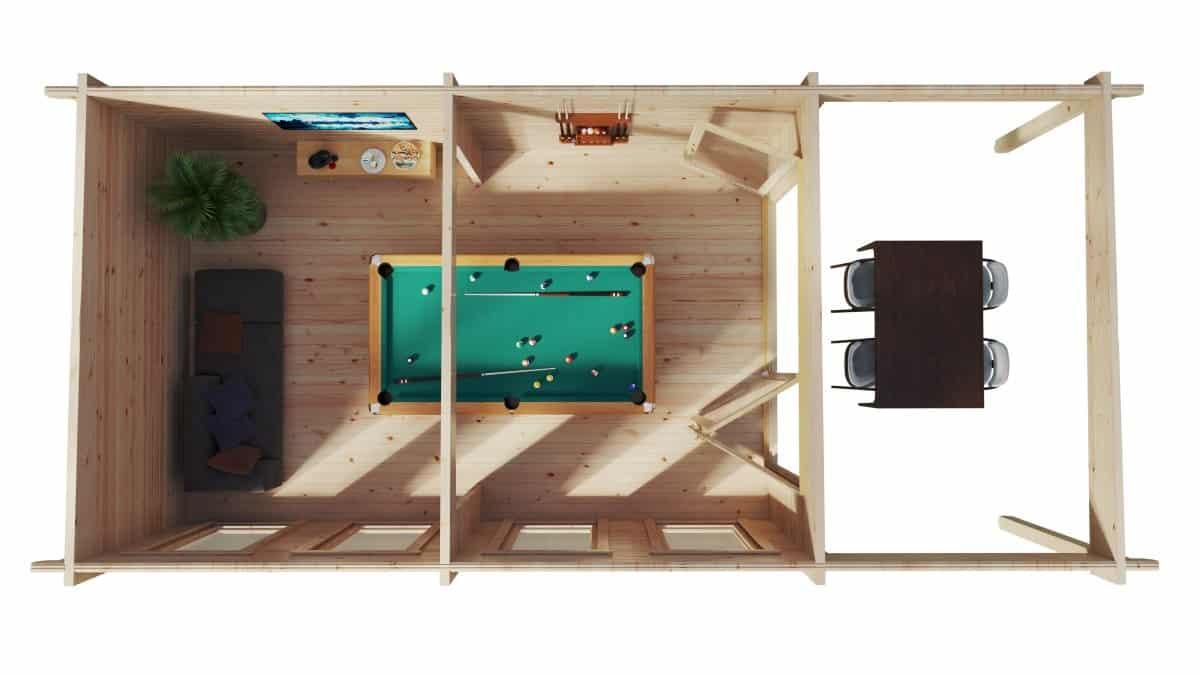 Large Garden Room with Premium Folding Doors David-1 / 4 x 8 m / 19m2 / 70mm
