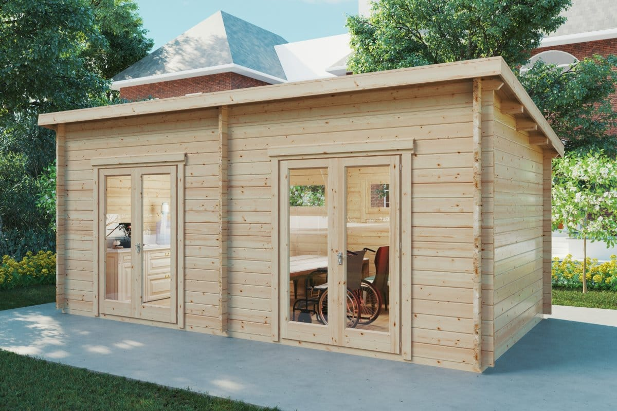 Social Distancing Special Cabin Liam 16m2 / 6 x 3 m / 44mm