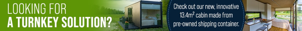 Shipping Container Cabin Nordic - Turnkey solution!