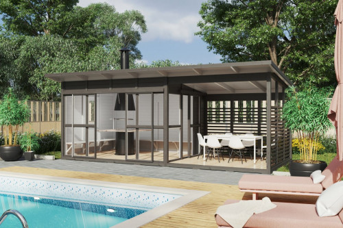 BBQ garden cabin Elias XL
