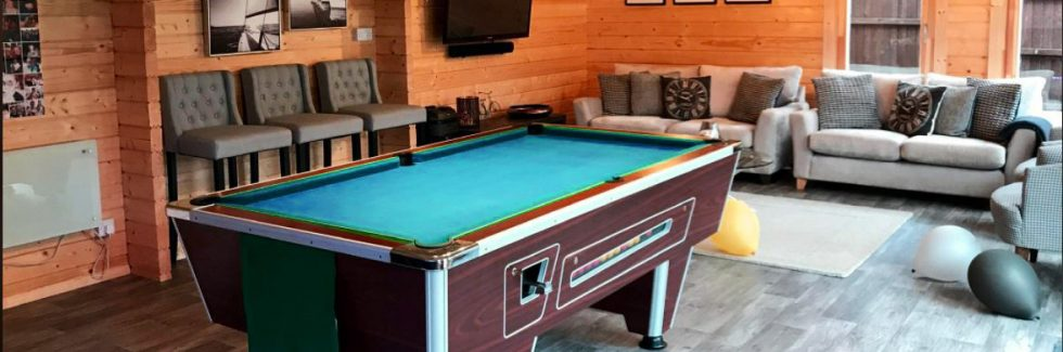 How to turn your garden building into a games room