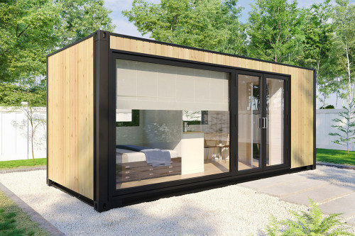 Container accommodation cabin with shower room V 2
