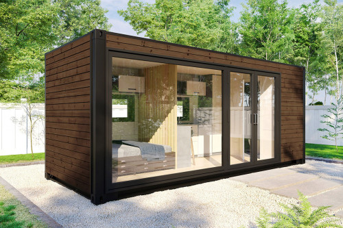 Container accommodation cabin with shower room V 2 Brown 1