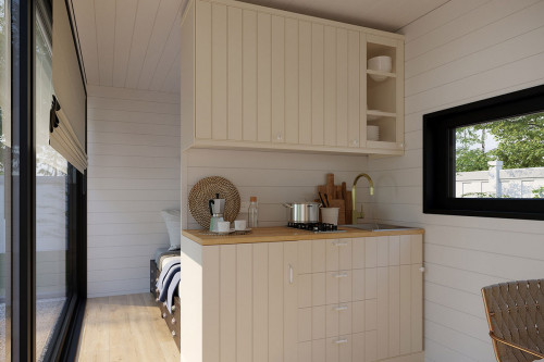 Container accommodation cabin with shower room V 2 interior design