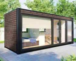 Container accommodation cabin with shower room V 3 Brown