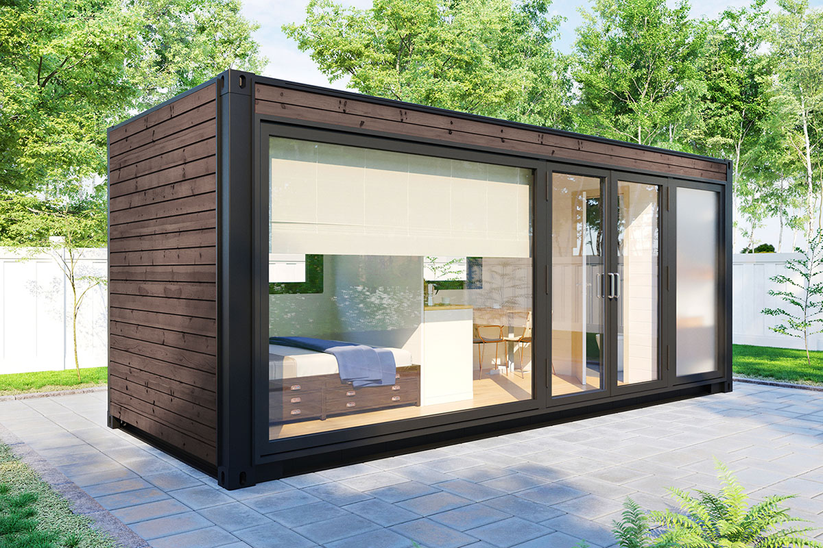 Container cabin with shower room V-3 – Summer House 24