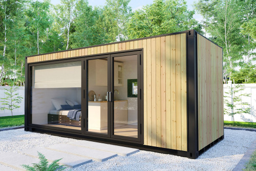 Container accommodation house with shower room V 2