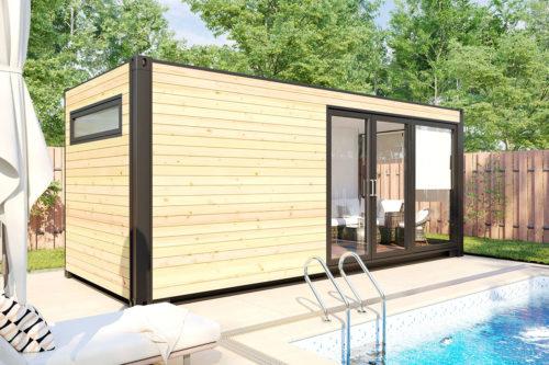 Container Cabin Sauna V6