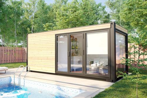Container Home Sauna V6