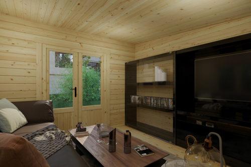 Garden room with shed Super Tom inside