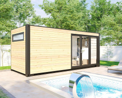 Container House Sauna Cabin V7
