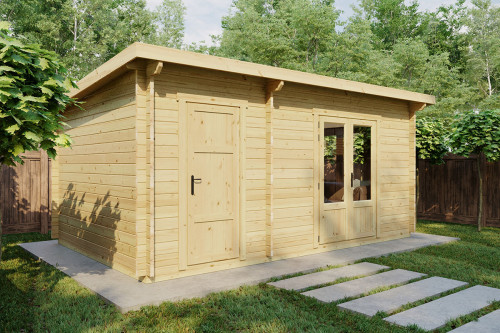 Garden summer house with shed - Super Tom