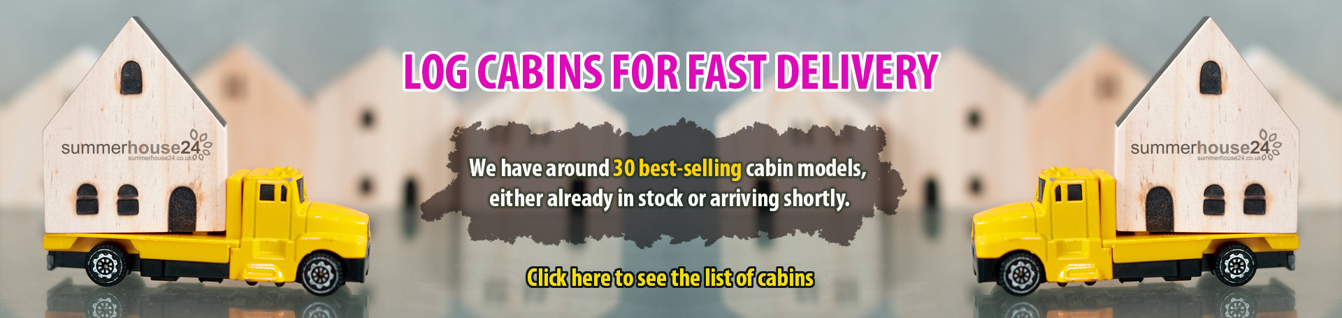 Garden log cabins for fast delivery