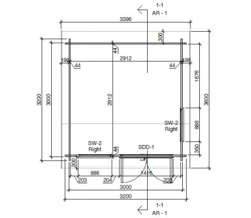 Mini office floor plan