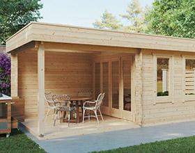 Garden Log Cabins less than 2.3 meters high