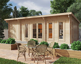 Garden Log Cabins with Shed
