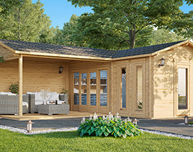 Medium Sized Log Cabins and Summer Houses