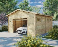 Wooden Garage J 70 mm 6 x 5m