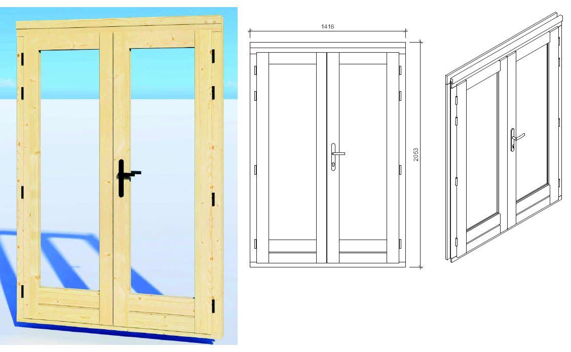 Summer house door SDD3 Right
